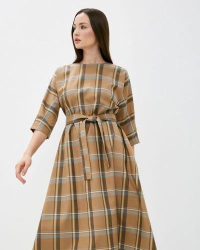 Базовое коричневое прямое платье Base Forms