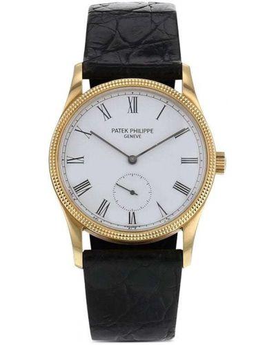 С ремешком кожаные часы механические круглые Patek Philippe