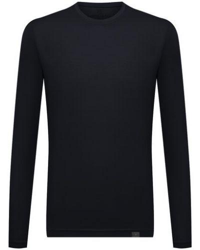 Синяя шерстяная футболка Capobianco