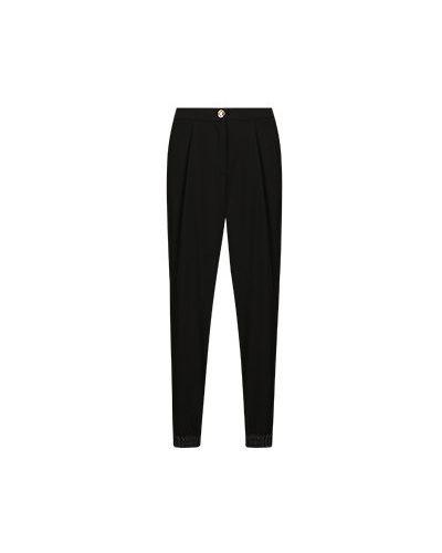 Черные зауженные брюки Elisa Fanti