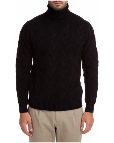 Czarny golf Lardini