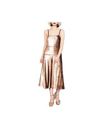 Вечернее платье бежевое ли-лу