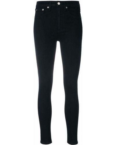 Зауженные джинсы с завышенной талией - черные Rag & Bone/jean