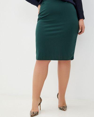 Зеленая прямая юбка карандаш Prewoman