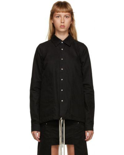 Серебряная рубашка с манжетами с воротником с карманами Rick Owens Drkshdw