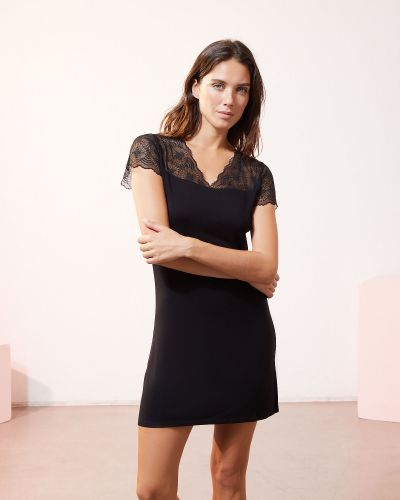 Piżama koronkowa - czarna Etam