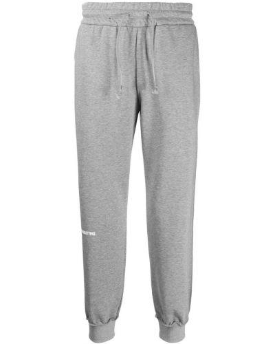 Спортивные зауженные брюки с манжетами с карманами бязевые Wwwm
