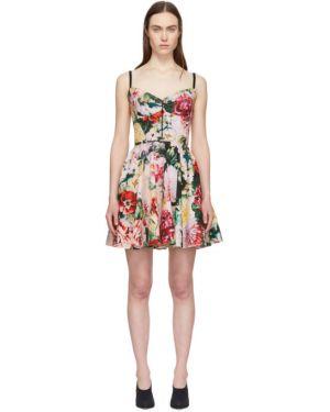 Платье на бретелях с цветочным принтом Dolce & Gabbana