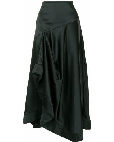 Zielony asymetryczny z wysokim stanem spódnica Acler