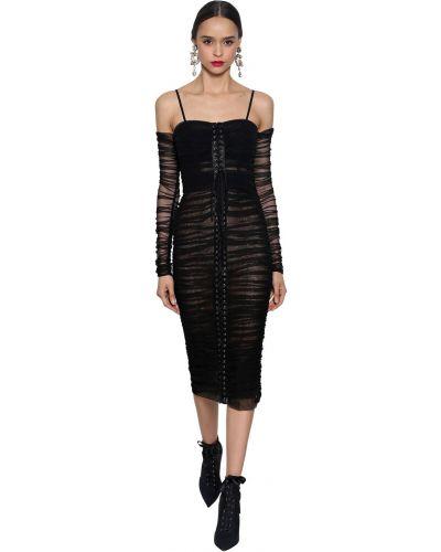 Платье на шнуровке на молнии Dolce & Gabbana