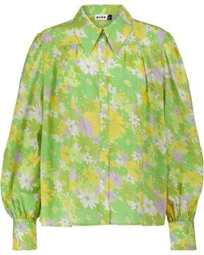 Ватная хлопковая сиреневая блузка Rixo