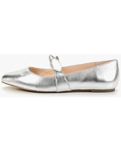 Балетки с острым носком серебряный Mint&berry