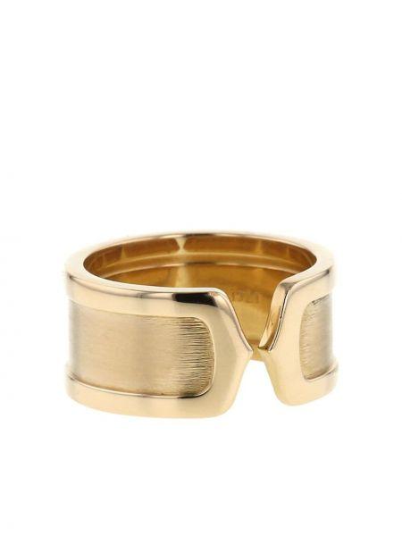 Открытое кольцо золотое матовое Cartier