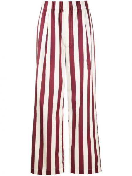 Бежевые свободные брюки с нашивками с карманами свободного кроя Jejia