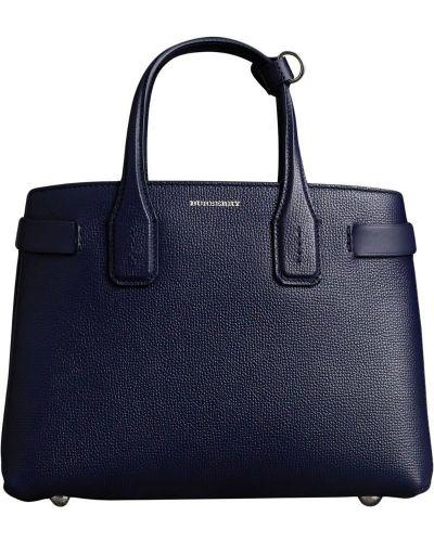 Кожаная сумка маленькая синий Burberry