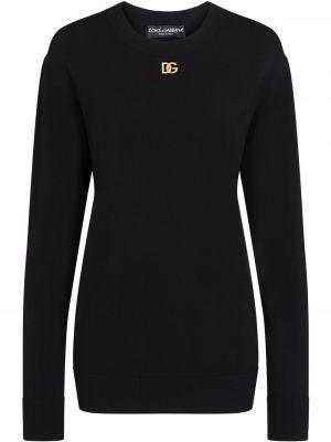 Черная кофта с длинными рукавами Dolce & Gabbana