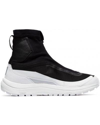 Черные высокие кроссовки на молнии с сеткой Salomon S/lab