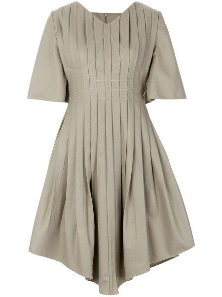 Плиссированное платье мини на молнии Vejas