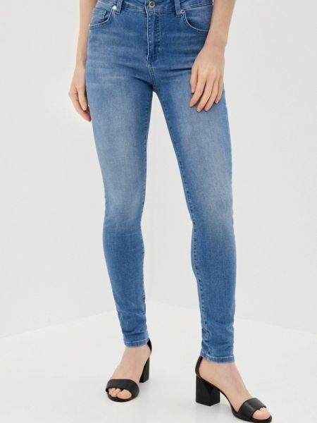 Синие джинсы-скинни с пайетками Silvian Heach
