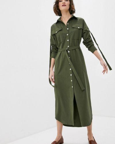 Прямое зеленое платье Sugarlife