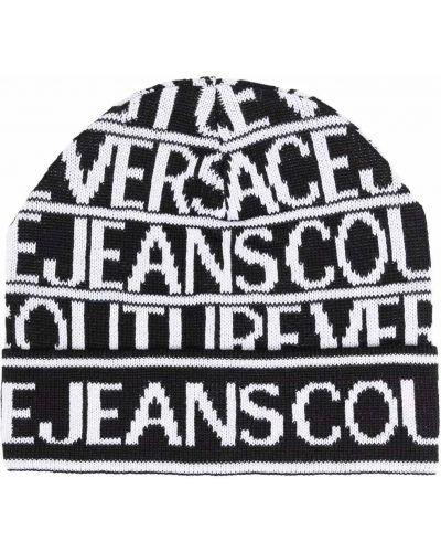 Czapka beanie - biała Versace Jeans Couture