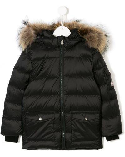 Пальто с карманами черный Pyrenex Kids