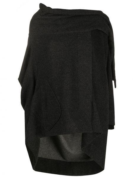 Асимметричное серое шерстяное пальто с драпировкой Vivienne Westwood Pre-owned