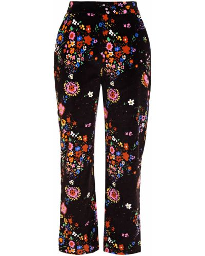 Brązowe spodnie bawełniane z printem Shrimps