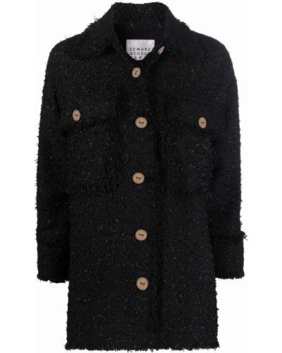 Czarna klasyczna kurtka Edward Achour Paris