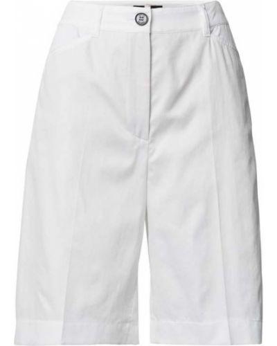 Białe bermudy bawełniane Marc Cain