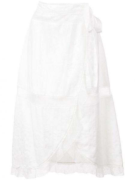 Ажурная юбка миди с запахом в рубчик Alexa Chung