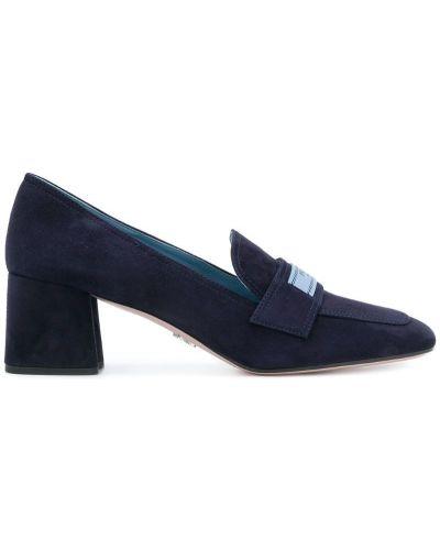 Синие туфли Prada