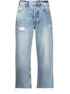 Синие хлопковые джинсы Anine Bing