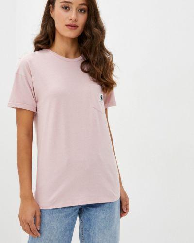 Розовая футболка с короткими рукавами Carhartt