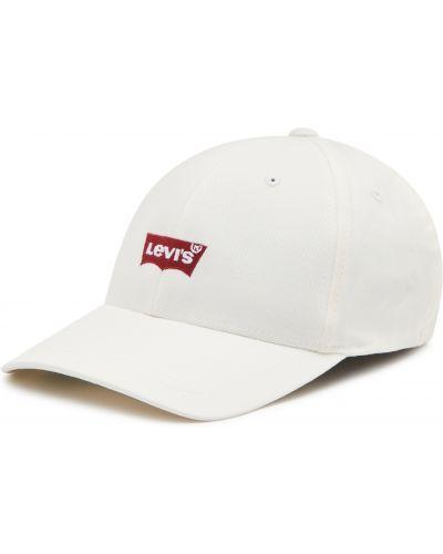 Biała czapka z daszkiem Levi's