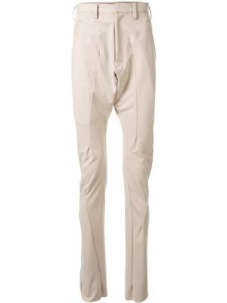 Beżowe spodnie z paskiem Sulvam