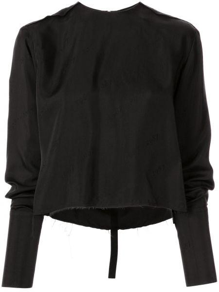 Блузка с длинным рукавом на молнии черная Yang Li