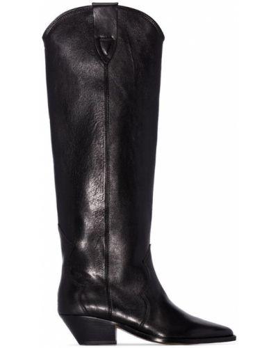Ковбойские сапоги черные на каблуке Isabel Marant