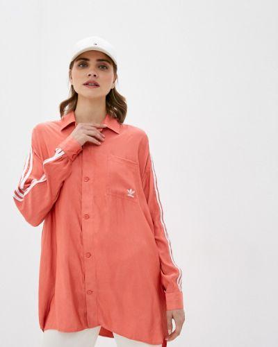 Красная рубашка с длинными рукавами Adidas Originals