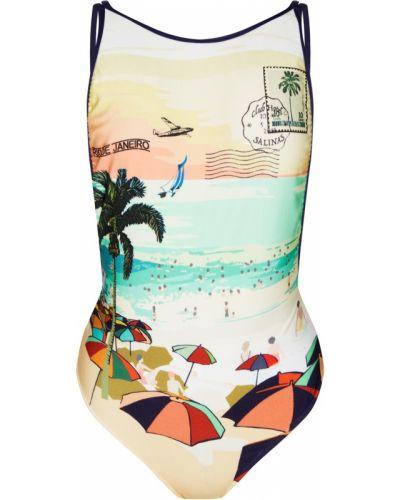 Пляжный открытый слитный купальник с вырезом Salinas