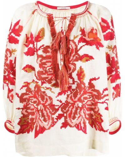 Блузка с вышивкой бежевый Vita Kin