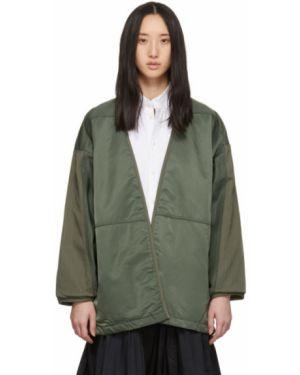 Оливковая нейлоновая длинная куртка Visvim