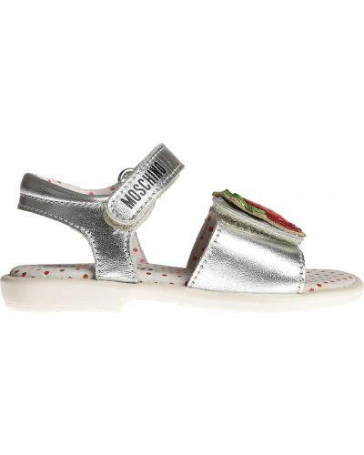 Босоножки серебряный Moschino