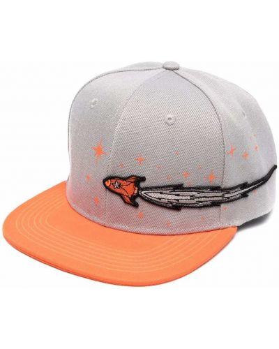 Pomarańczowa czapka z haftem Enterprise Japan