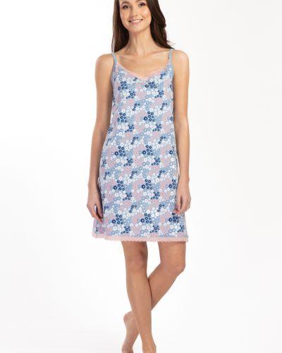Koszula bawełniana w kwiaty koronkowa Envie