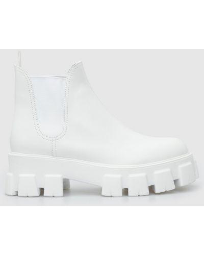 Кожаные ботинки челси - белые Prada