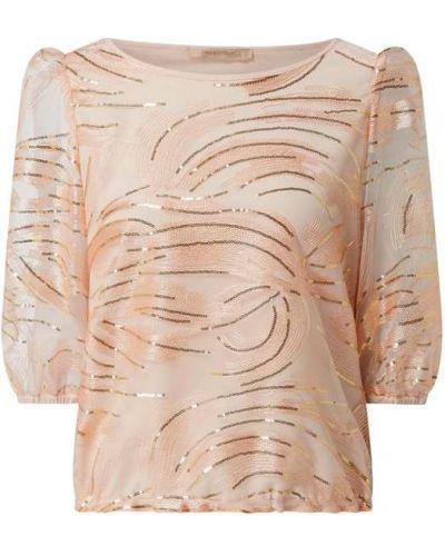Pomarańczowa bluzka z cekinami tiulowa Pennyblack