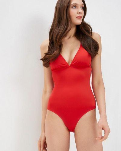 Красный слитный купальник Phax