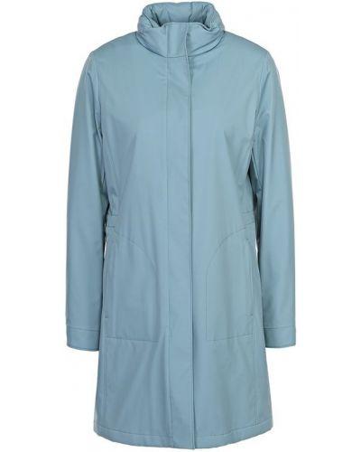 Кожаное пальто с воротником кашемировое Loro Piana