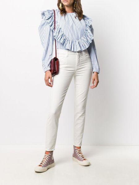 Брендовые белые зауженные укороченные джинсы J Brand